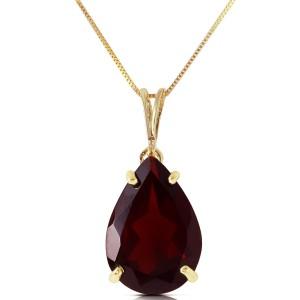 5 CTW 14K Solid Gold Written In Naturale Garnet Necklace