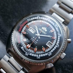 Mens Orient King Diver Triple Star 45mm Day Date Automatic, c.1970s MS191