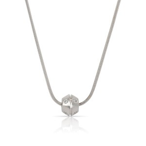 Tiffany & Co. Etoile Ball Diamond Pendant in 18K White Gold 0.08 CTW