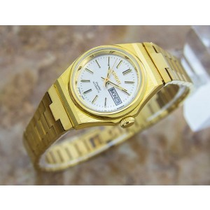 Ladies Orient Crystal 26mm Gold-Plated Day Date Automatic, c.1970s  NR28