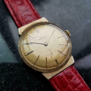 Mens Omega ref.N6592 33mm 14k Gold Hand-Wind Dress Watch, c.1950s Swiss LV946RED