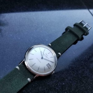Mens IWC Schaffhausen 34mm 18k White Gold Date Automatic, c.1950s LV956GRN