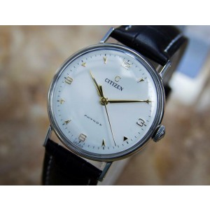 Mens Citizen Phynox 33mm Hand-Wind Dress Watch, c.1950s Vintage Q54