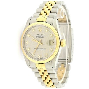 Rolex Datejust Midsize 31mm Yellow Gold/Steel Watch/Factory Jubilee Diamond Dial