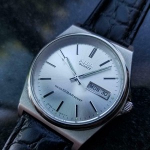 Mens Alba ref.V743-8A10 36mm Quartz w/Day Date Function, c.1980s W16