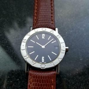 Ladies Bvlgari Diagono BB 30 SL 30mm Quartz Date Dress Watch, c.2000s R1111BRN