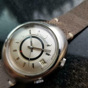 Mens Jaeger LeCoultre Memovox 38mm Automatic w/Date & Alarm, c.1960s MS121GRY