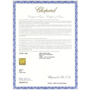 Chopard Happy Diamonds Double Heart Ring in 18K White Gold 0.05 CTW