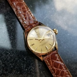 Ladies Rolex Oyster Datejust 6516 25mm 18k Gold Automatic, c.1960s Swiss MS184