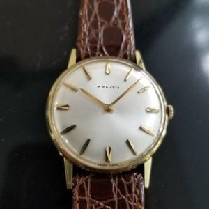Mens Zenith 33mm 14k Gold-Filled Hand-Wind Dress Watch, c.1960s Vintage MA181