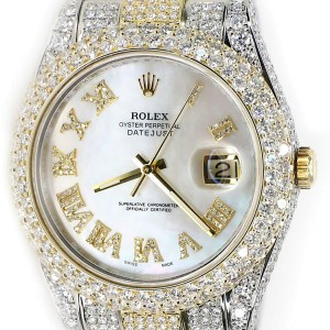 Rolex Datejust II 41mm 2-Tone Oyster 15.8ct Diamond Watch/Box/Papers 116333