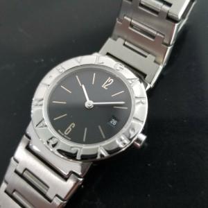 Ladies Bvlgari Diagono BB 26 SS 26mm Date Quartz Dress Watch, c.2000s JAC13