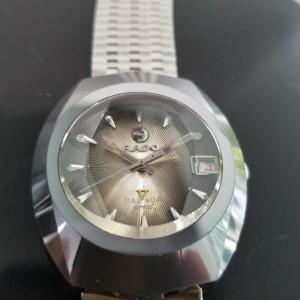 Mens Rado Balboa Great 36mm Tungsten Date Automatic, c.1960s Vintage Swiss NR8
