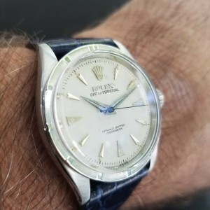 Mens Rolex Oyster Perpetual 6303 34mm Automatic Dress Watch, c.1950s MA176BLU