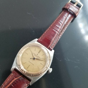 Mens Rolex Oyster Perpetual 2940 32mm 18k Rose Gold & SS Automatic c.1940s MA180