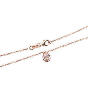GIA Certified Natural Fancy Pink Diamond Necklace in 14KT Pink Gold VS2 0.86 CTW