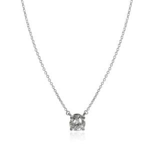 Tiffany & Co. Diamond Solitaire Necklace in Platinum (1 ct I/VS1)