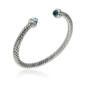 David Yurman Cable Diamond Bracelet in  Sterling Silver 0.30 CTW