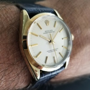 Mens Rolex Oyster perpetual Ref.1024 34mm Gold-Capped Automatic, c.1980s RA145
