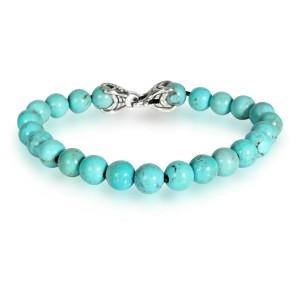 David Yurman Turquoise Spiritual Beads Bracelet in  Sterling Silver