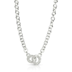 Tiffany & Co. 1837 Interlocking Circle Clasp Necklace in Sterling Silver