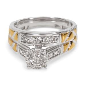 Diamond Engagement Bridal Set in 10KT Gold 0.60 ctw
