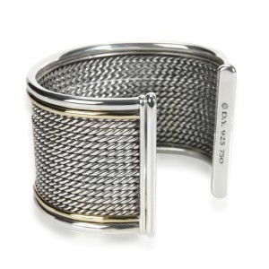 David Yurman Origami Cuff in 18K Yellow Gold & Sterling Silver