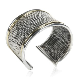 David Yurman Origami Cuff in 18K Yellow Gold & Sterling Silver