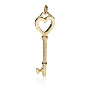 Tiffany & Co. Key Heart Pendant in 18K Yellow Gold