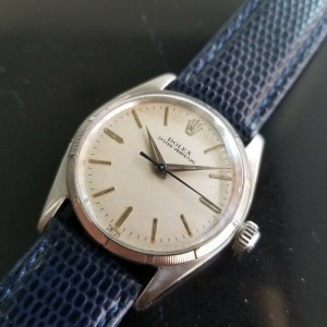 Midsize Rolex Oyster Perpetual Ref.6549 30mm Automatic Watch, c.1950s RA144BLU