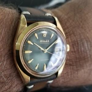 Mens Rolex OysteDate Precision 6494 35mm Gold-Capped Hand-Wind, c.1950s MA199