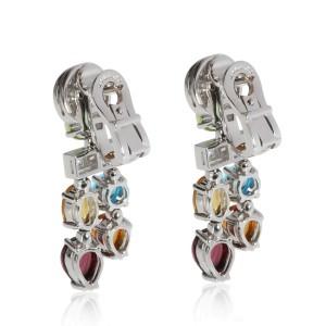 Bulgari Allegra Sapphire & Diamond Earring in 18K White Gold 0.60 CTW