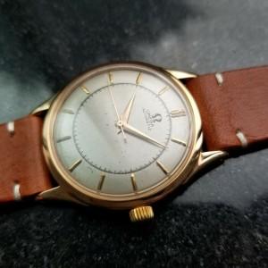 Mens Omega Ref.2584 35mm 18k Rose Gold Automatic, c.1940s Swiss Vintage LV949TAN