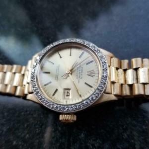 Ladies Rolex Oyster Datejust 6917 26mm 18k Gold Diamond Automatic, c.1970s LV889