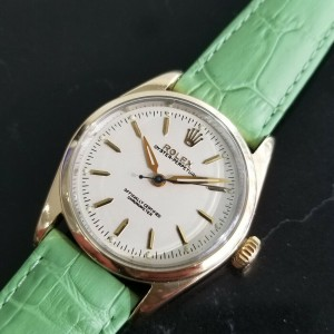 Mens Rolex Oyster Pereptual 6634 34mm Gold-Capped Automatic, c.1950s RA141GRN