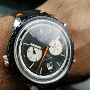 Mens 1970s Breitling Chronomatic ref.7651 48mm Automatic Chronograph LV226BLK