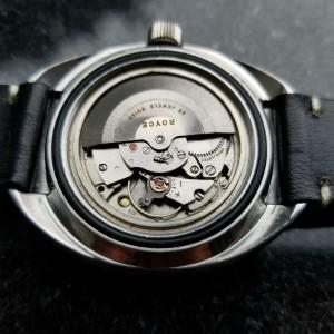 Mens Royce Jumbo 1960s 43mm Date Automatic Diver 25J Vintage Swiss Watch LV232