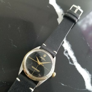 Mens Rolex Oyster Perpetual 5500 34mm 14k Gold & SS Automatic, c.1960s RA103BLK