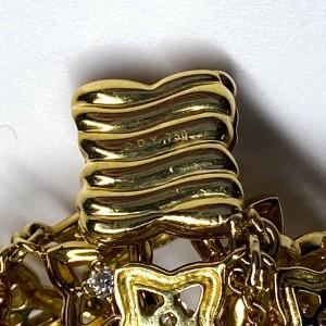 David Yurman - New 18K Diamond Bracelet Quatrefoil Yellow Gold Wide Star Flower