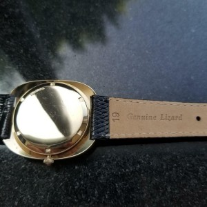 Mens Movado Kingmatic HS360 35mm 14k Solid Gold 1960s Automatic Swiss LV437
