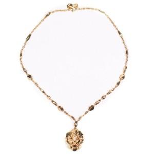 Chanel - New - 18K Yellow Gold Lion Necklace Sous le Signe de  Pendant V39992