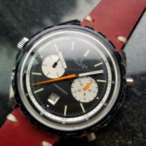 Mens Breitling 1970s Chronomatic 48mm Day Date Automatic Chronograph LV226RED