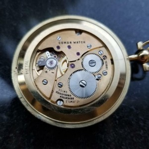 Tiffany & Co Rare Solid 18K Gold Pocketwatch 1980s Comor Movement Swiss MS219