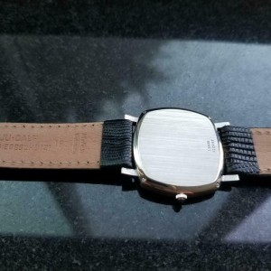 Mens Piaget 33mm 18k Solid White Gold 1980s Date Automatic Watch Swiss