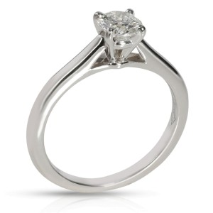 Cartier 1895 Diamond Solitaire Ring in Platinum GIA Certified G