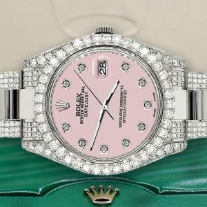 Rolex Datejust II 41mm Diamond Bezel/Lugs/Bracelet/Orchid Pink Dial Watch