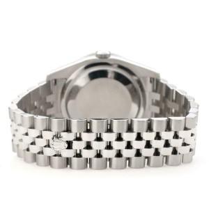 Rolex Datejust 116200 36mm 2ct Diamond Bezel/White Pearl Roman Dial Steel Watch