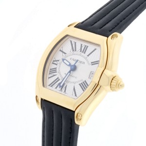 Cartier Roadster Large Silver Roman Dial Automatic Watch W62005V1 Box Papers