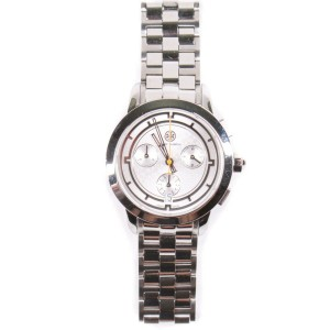 Tory Burch - Chronograph Watch - Stainless Steel Silver - with Box