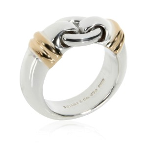 Tiffany & Co. Interlocking Circle Ring in Sterling Silver with Gold Accents